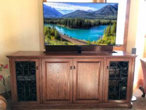 Phoenix A2 TV Lift with Iron Doors