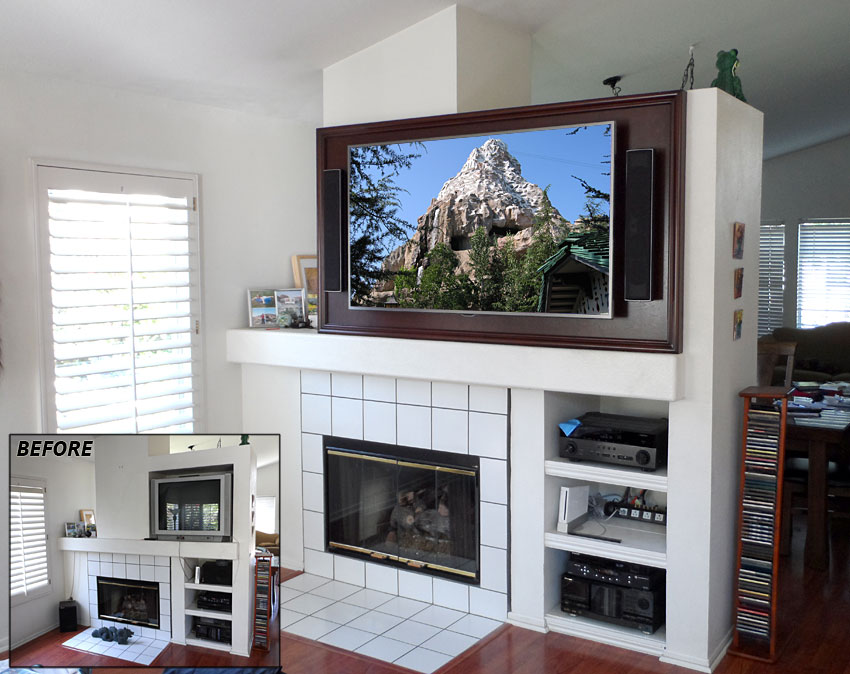 Fireplace_Retrofit_Modify_Entertainment_Wall_For_Large_Flat_Panel_TV_Structural_Back_Wall