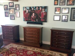 3 Five drawer media cabinets to organzing a huge Blu-ray DVD collection
