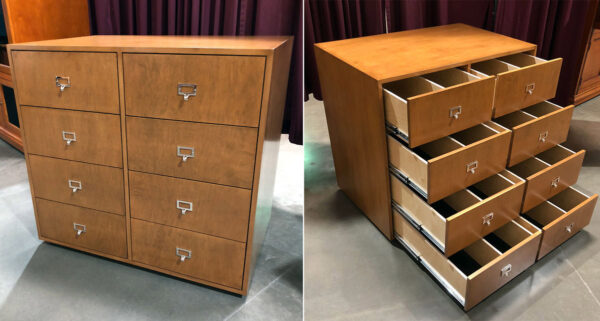 Eight drawer cabinet for 45 records