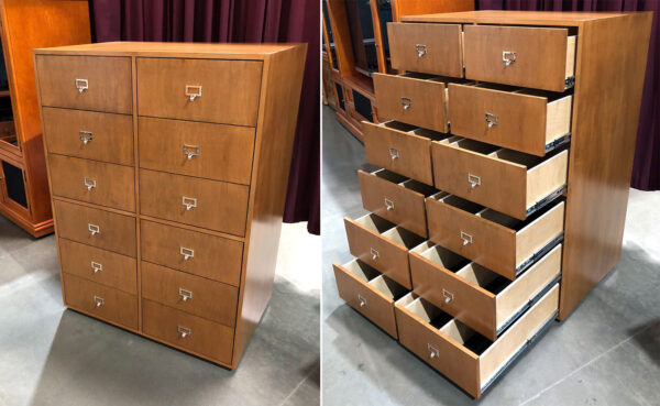 Tall 12 drawer 45 record cabinet