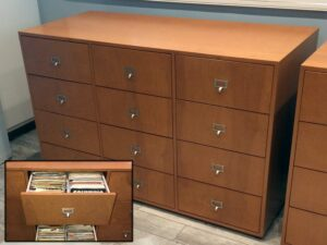 12 Drawer cabinet designed for 45 records