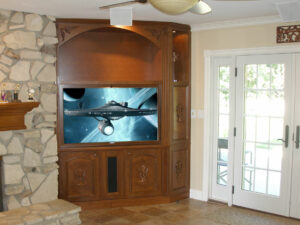 Built-in Corner Home Entertainment Wall Unit