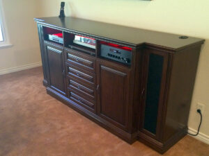 Traditionally Styled Stereo Audio Cabinet with Turtnable Pull-out