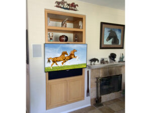 Custom built-in armoire, upgraded to accommodate a flat panel TV