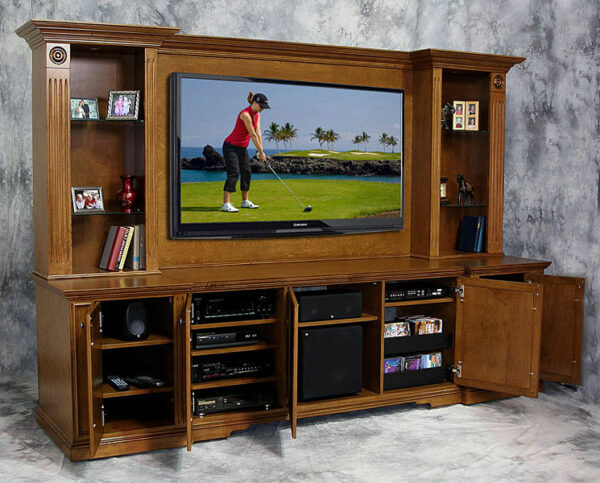 Open View of Castleton Wall Unit home theater system