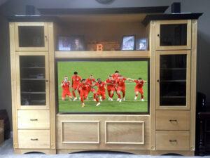 Furniture Retrofit, Wall Unit Originally For Projection TV