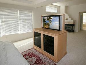Phoenix P4334 modern TV lift in Natural birch