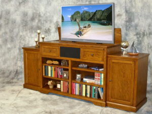 Phoenix P10543 Oak lift cabinet with built-in bookcases