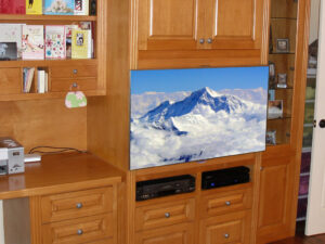Home Office and Entertainment Center Furniture Retrofit