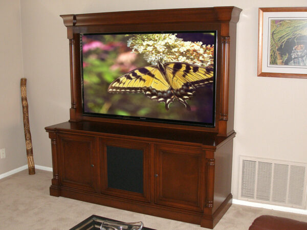 Custom CWU-5 Wall unit for flat panel TV and home theater system