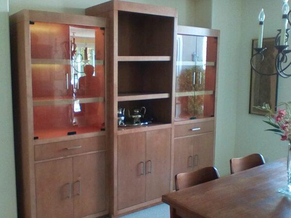 Natural Birch China and Display Cabinet